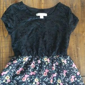 Xhilaration floral black dress